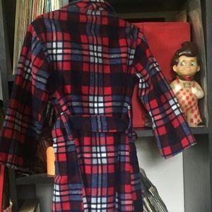 1950s Felted Flannel Bathrobe